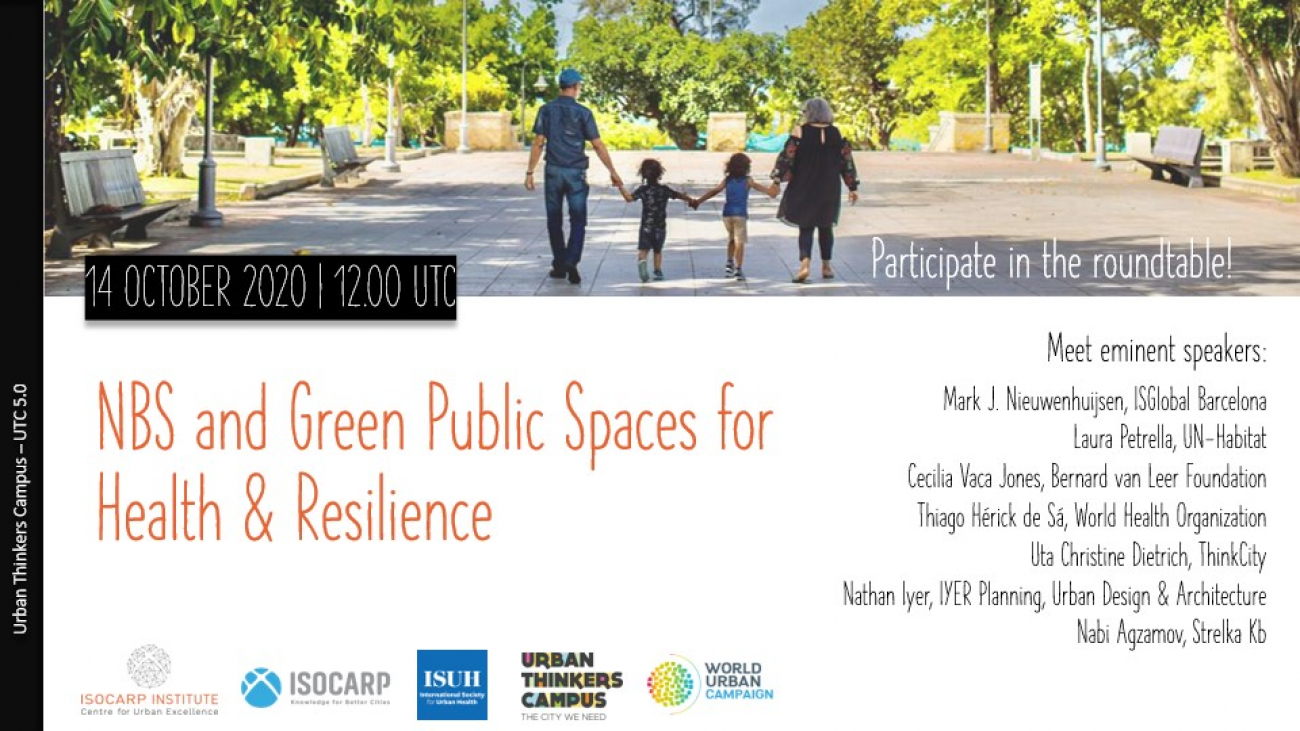 UTC nature-based solutions and green public spaces for Health and resilience
